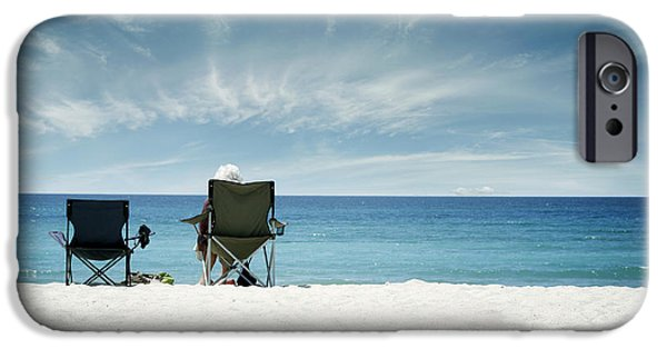 Retired iPhone Cases - Beach view iPhone Case by Les Cunliffe