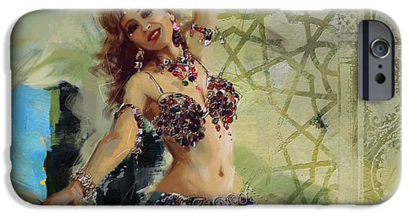 Moroccan iPhone Cases - Abstract Belly Dancer 13 iPhone Case by Corporate Art Task Force