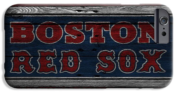 Red Sox Photographs iPhone Cases - Boston Red Sox iPhone Case by Joe Hamilton