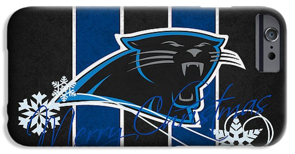 Panther iPhone Cases - Carolina Panthers iPhone Case by Joe Hamilton