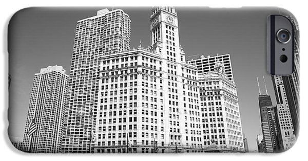 Wrigley iPhone Cases - Chicago Skyline iPhone Case by Frank Romeo