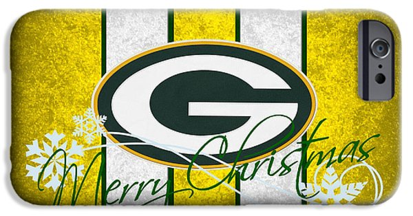 Christmas Greeting iPhone Cases - Green Bay Packers iPhone Case by Joe Hamilton