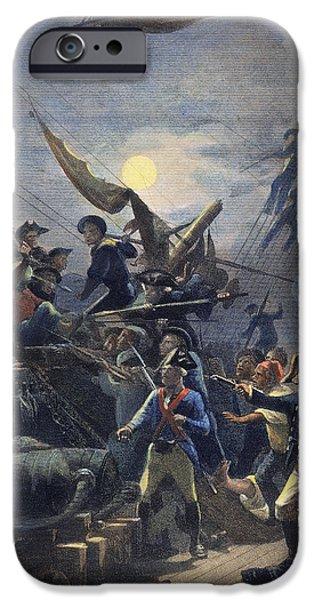 Sea Moon Full Moon iPhone Cases - John Paul Jones (1747-1792) iPhone Case by Granger