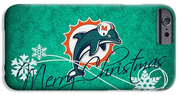 Dolphin iPhone Cases - Miami Dolphins iPhone Case by Joe Hamilton