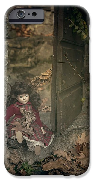 Porcelain Doll iPhone Cases - Old Doll iPhone Case by Joana Kruse