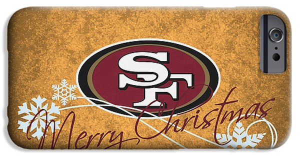 Santa iPhone Cases - San Francisco 49ers iPhone Case by Joe Hamilton