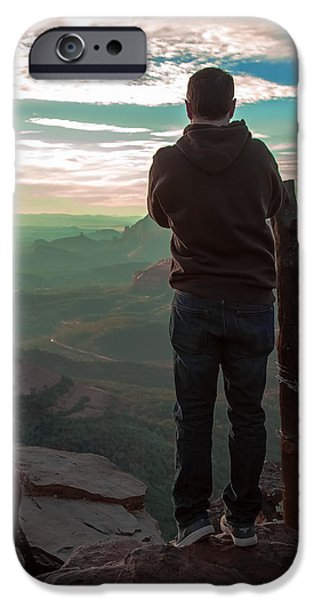 Sedona iPhone Cases - Sedona Sunset iPhone Case by Steven Lapkin