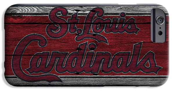 Baseball Field iPhone Cases - St Louis Cardinals iPhone Case by Joe Hamilton