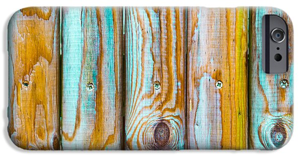Chip iPhone Cases - Wooden background iPhone Case by Tom Gowanlock
