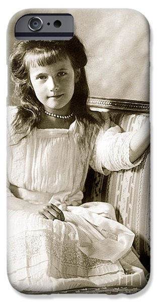 Recently Sold -  - Duchess iPhone Cases - 153. Grand Duchess Anastasia of Russia Print iPhone Case by Royal Portraits