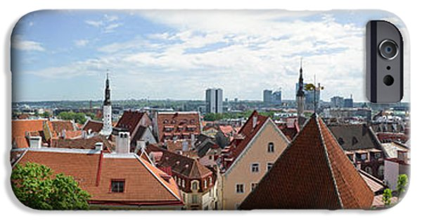 Estonia Photographs iPhone Cases - Aerial View Of Buildings In A City iPhone Case by Panoramic Images