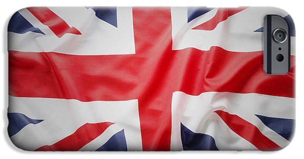 Flag Colors iPhone Cases - British flag iPhone Case by Les Cunliffe