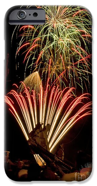 Fireworks iPhone Cases - Canal Days Fireworks iPhone Case by JT Lewis