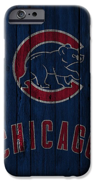 Recently Sold -  - Snow iPhone Cases - Chicago Cubs iPhone Case by Joe Hamilton