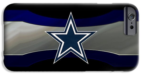 Santa iPhone Cases - Dallas Cowboys iPhone Case by Joe Hamilton
