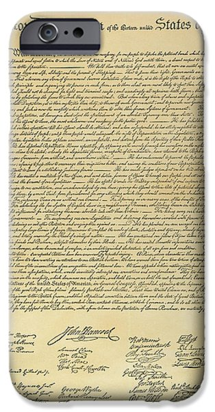 Autographed iPhone Cases - Declaration Of Independence iPhone Case by Granger