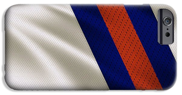 Denver Broncos iPhone Cases - Denver Broncos Uniform iPhone Case by Joe Hamilton