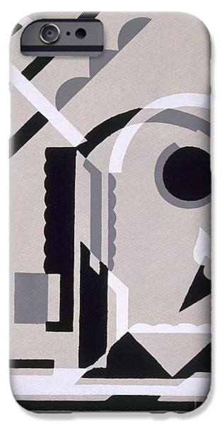 Constructivist iPhone Cases - Design from Nouvelles Compositions Decoratives iPhone Case by Serge Gladky