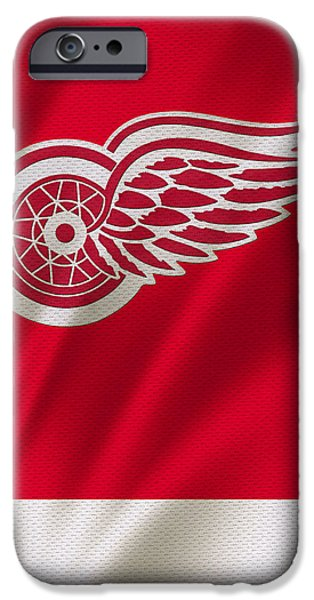 Red Wings iPhone Cases - Detroit Red Wings iPhone Case by Joe Hamilton