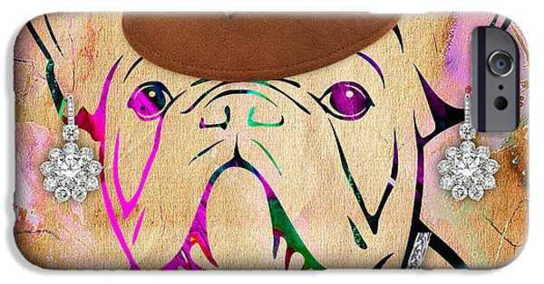Dogs iPhone Cases - French Bulldog Collection iPhone Case by Marvin Blaine