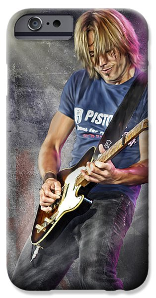 Epiphone Guitar iPhone Cases - Keith Urban iPhone Case by Don Olea