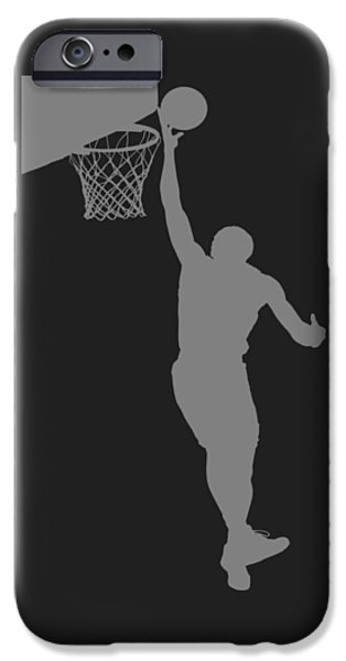 Dunk iPhone Cases - Nba Shadow Player iPhone Case by Joe Hamilton