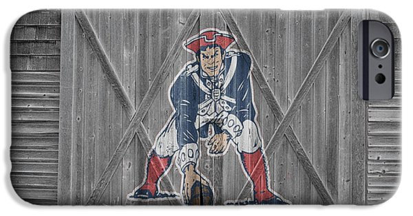 Barns Photographs iPhone Cases - New England Patriots iPhone Case by Joe Hamilton