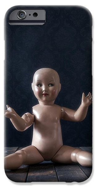 Eerie iPhone Cases - Old Doll iPhone Case by Joana Kruse