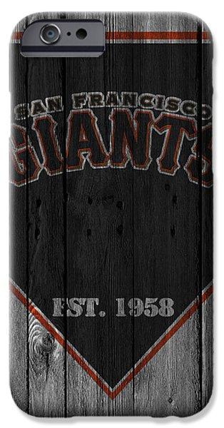 Baseball Glove iPhone Cases - San Francisco Giants iPhone Case by Joe Hamilton