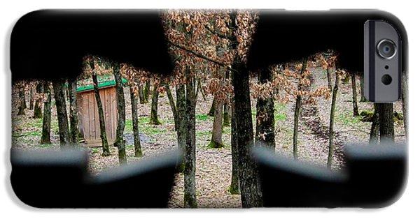 President Pyrography iPhone Cases - Savas Artwork iPhone Case by Popa Bogdan