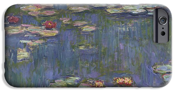 Waterlily iPhone Cases - Water Lilies iPhone Case by Claude Monet