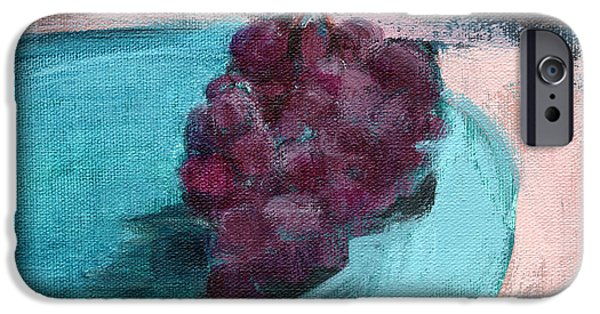 Blue Grapes iPhone Cases - RCNpaintings.com iPhone Case by Chris N Rohrbach