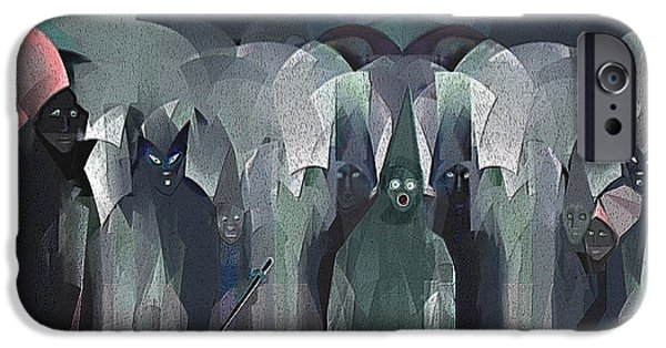 Ghastly iPhone Cases - 166 - Trick or Treat  Halloween   iPhone Case by Irmgard Schoendorf Welch