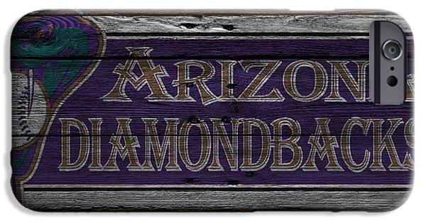 Baseball Glove iPhone Cases - Arizona Diamondbacks iPhone Case by Joe Hamilton