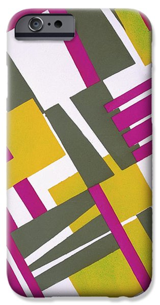 Vibrant Colors Drawings iPhone Cases - Design from Nouvelles Compositions Decoratives iPhone Case by Serge Gladky