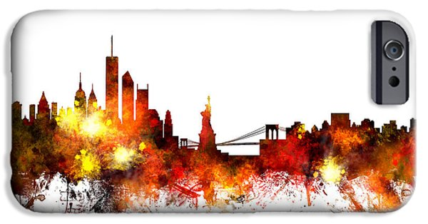 United States iPhone Cases - New York Skyline iPhone Case by Michael Tompsett
