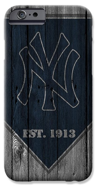 Baseball Glove iPhone Cases - New York Yankees iPhone Case by Joe Hamilton
