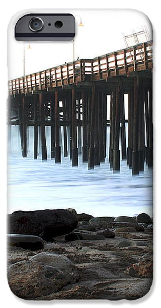 Ocean Wave Storm Pier iPhone Case by Henrik Lehnerer