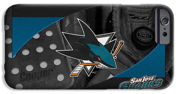 San Jose Sharks iPhone Cases - San Jose Sharks iPhone Case by Joe Hamilton