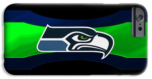 Seattle iPhone Cases - Seattle Seahawks iPhone Case by Joe Hamilton