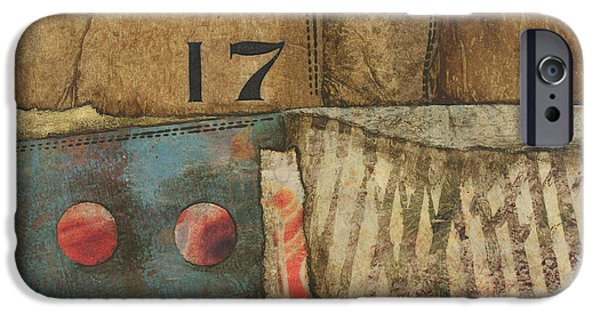 Abstracted Mixed Media iPhone Cases - 17 Straights in the River iPhone Case by Laura  Lein-Svencner