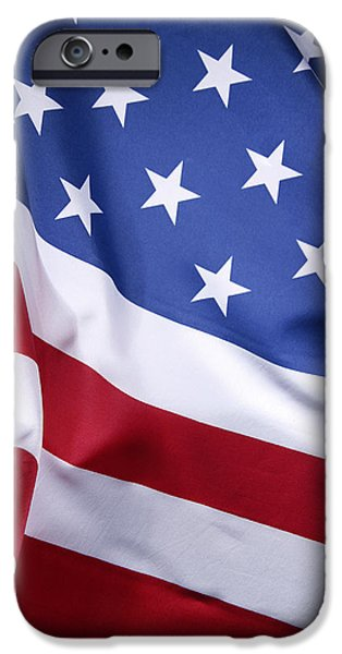 Flag Colors iPhone Cases - USA flag iPhone Case by Les Cunliffe