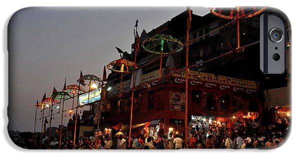 Hindu Goddess iPhone Cases - Varanasi The City Of Light iPhone Case by Anil Sharma
