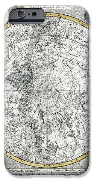 1700 CELESTIAL PLANISPHERE iPhone Case by Daniel Hagerman