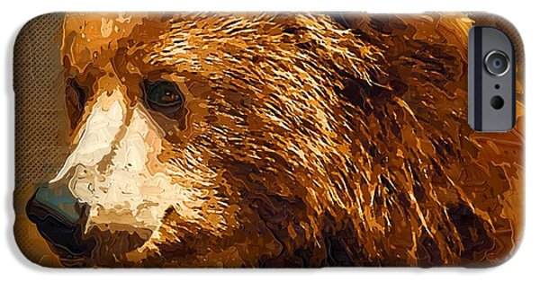 Fauna Digital Art iPhone Cases - Amazing Fauna iPhone Case by Victor Gladkiy
