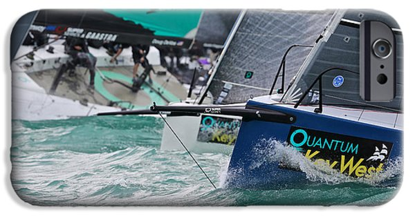 Alcatraz iPhone Cases - Key West Race Week iPhone Case by Steven Lapkin