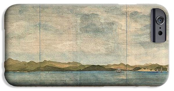To Dominate iPhone Cases - 1748 Anson View of Zihuatanejo Harbor Mexico iPhone Case by Paul Fearn
