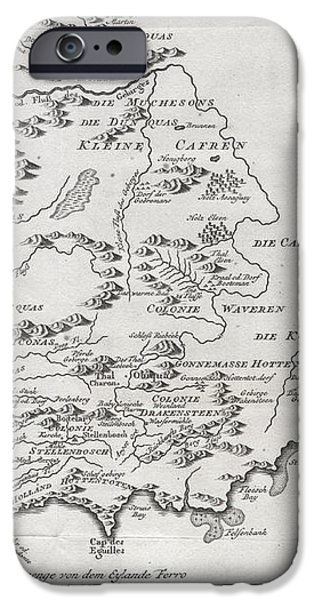 1757 Bellin Map of South Africa and the Cape of Good Hope iPhone Case by Paul Fearn