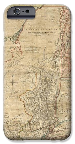 1768 Holland  Jeffreys Map of New York and New Jersey  iPhone Case by Paul Fearn
