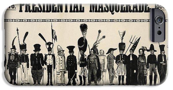 Potus iPhone Cases - 1776  Presidential Masquerade  1880 iPhone Case by Daniel Hagerman